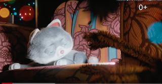 Ирония судьбы по-кошачьи в новогоднем рекламном ролике от Сбербанка