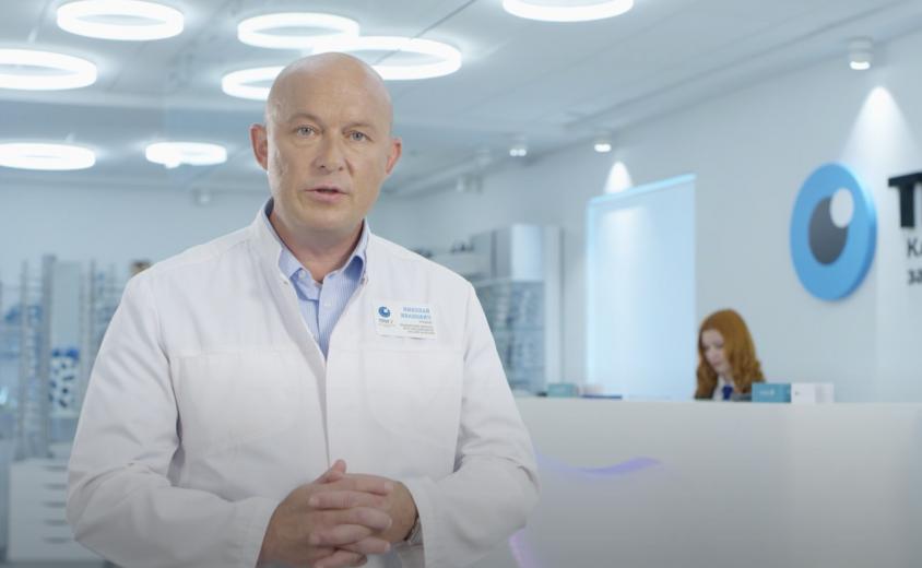 """Рекламный ролик замены хрусталика в клинике """"Три-З"""""""