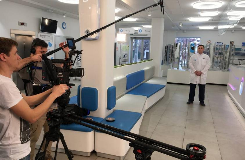 Съемки рекламного ролика клиники «Три-З»
