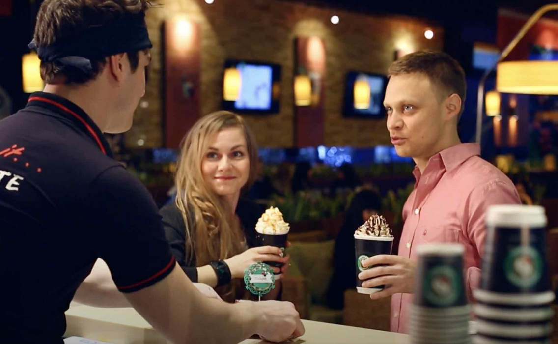 Рекламный ролик сети Coffeeshop
